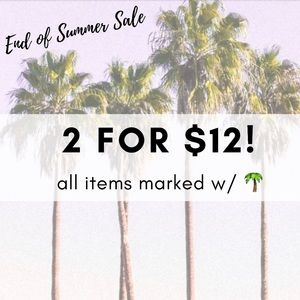 🌴 END OF SUMMER SALE 🌴